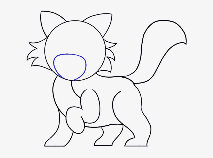How To Draw Cartoon Cat Draw A Cartoon Cat Free Transparent Png