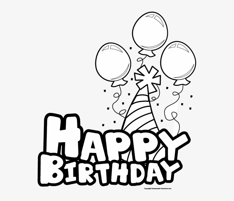 Best Birthday Clip Art Black And White - Happy Birthday ...