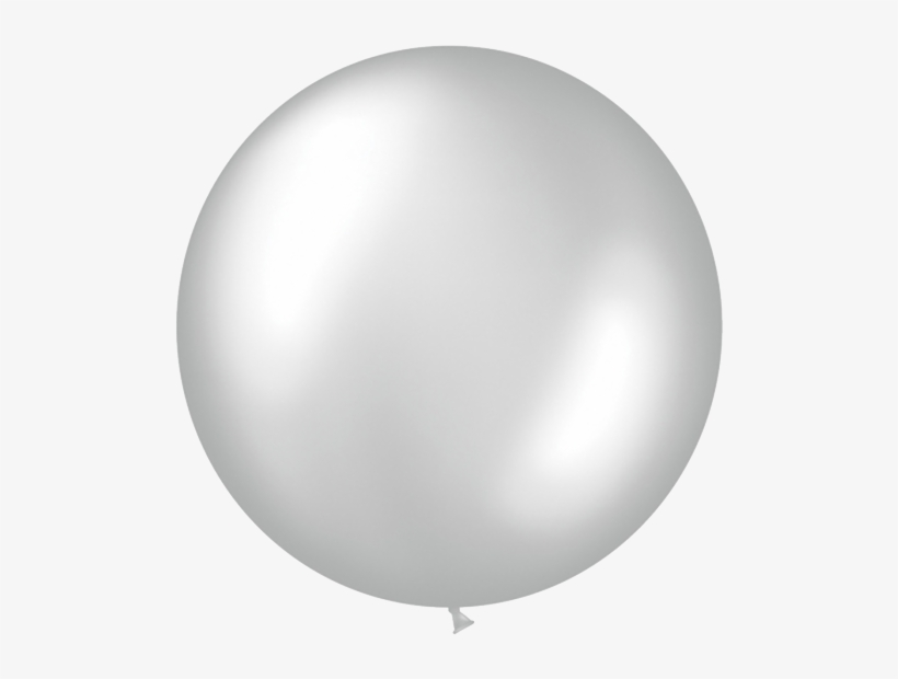 Silver Jumbo Foil Balloon - Silver Balloon, transparent png #1305894