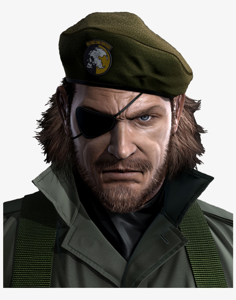 Metal Gear Solid 5 Big Boss Png - Metal Gear Solid Peace Walker Big Boss, transparent png #1306770