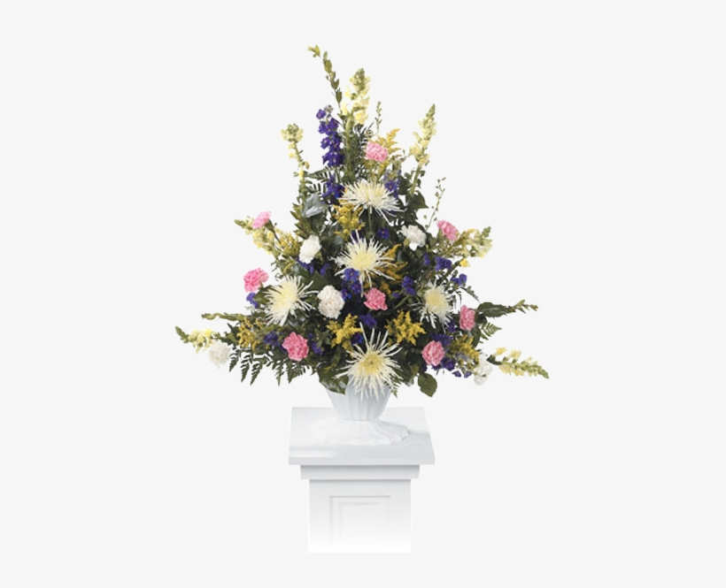 Pastel Pedestal - Pedestal Flower Pot With Flowers, transparent png #1307814