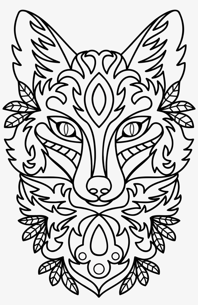 Big Image - Drawing Fox Animal Eyes, transparent png #1308091