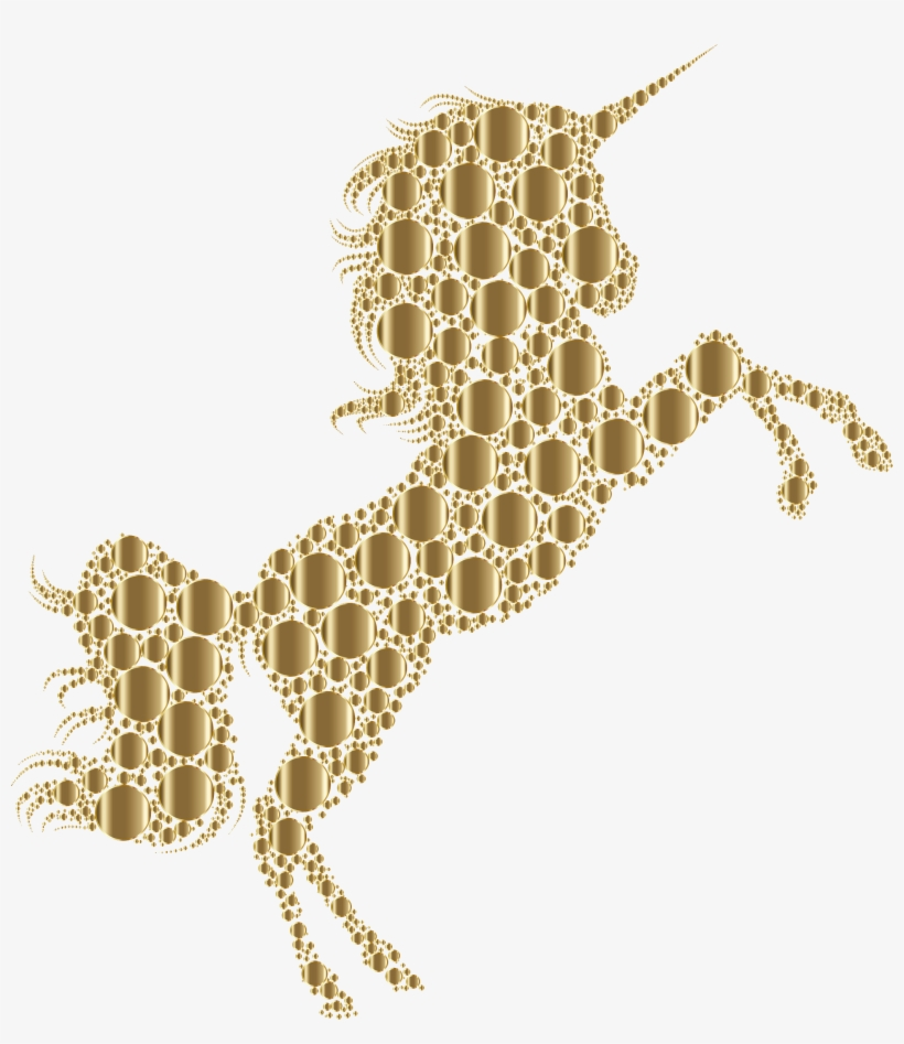 This Free Icons Png Design Of Gold Unicorn Silhouette - Free