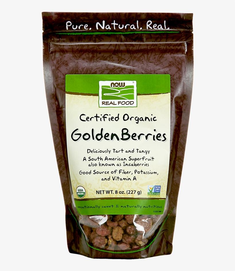 Goldenberries, Organic - Now Foods Organic Golden Berries - 8 Oz, transparent png #1309286