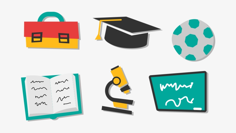 School Icon Vector Png - Accessories Vector Png, transparent png #1310985
