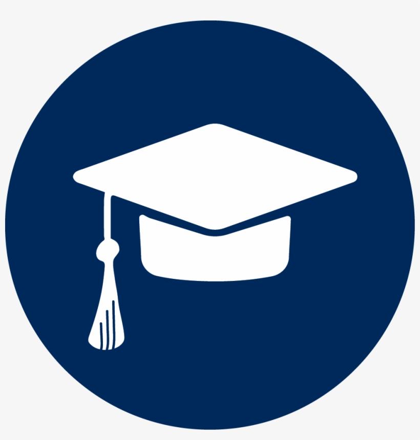 Graduate School Icon - University Icon Blue, transparent png #1311026