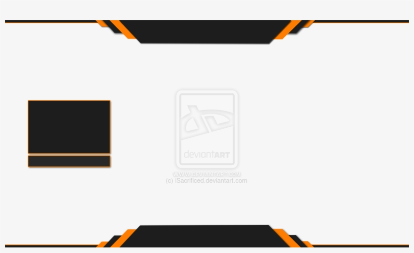 Vector Transparent Stock Images Of Halo Themed Overlay - Blank Twitch Overlay, transparent png #1311603