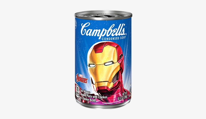 Marvel Avengers Soup Iron Man - Campbell's Condensed Soup, Cream Of Shrimp - 10.75, transparent png #1311952