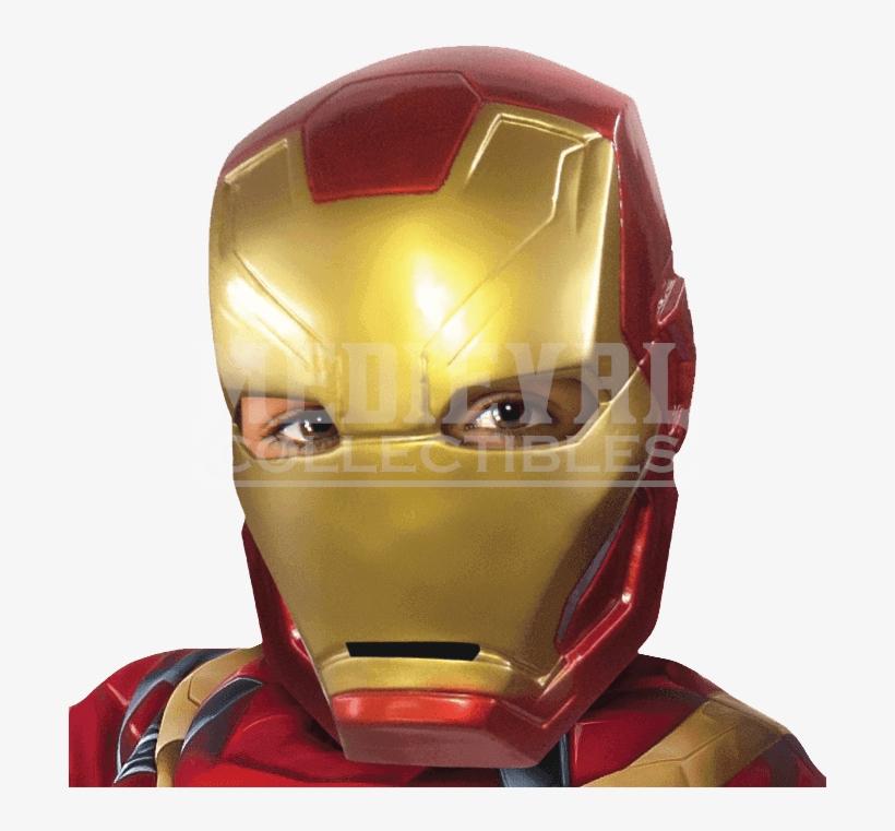 Kids Civil War Iron Man Half Mask - Marvel Iron Man Halloween Super Hero Mask, transparent png #1312106