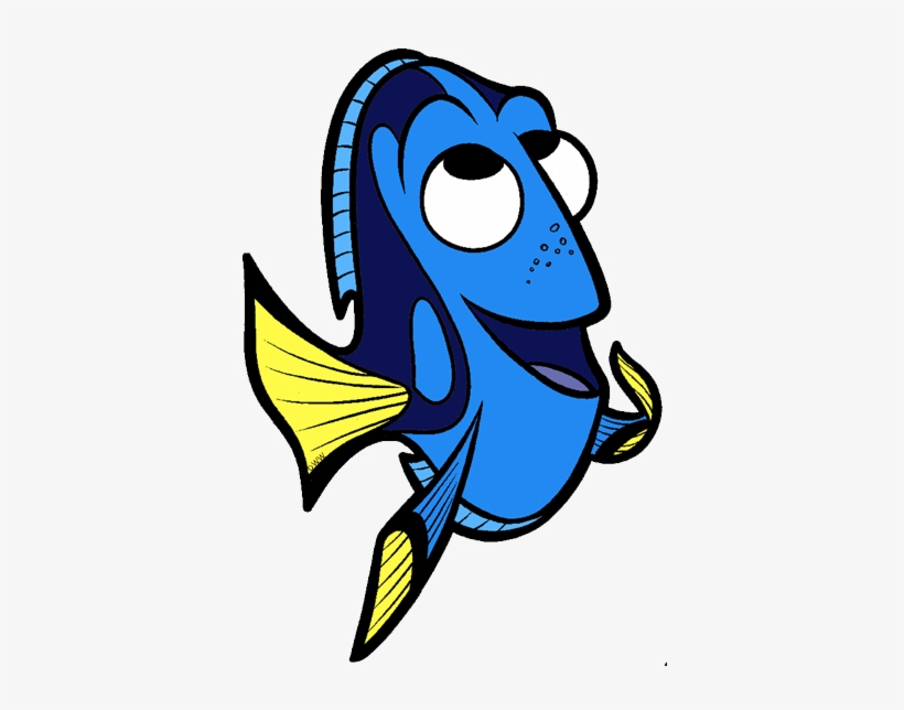 474c81f8f9a Vector Black And White Download Baby Dory Clipart - Dory Clipart ...