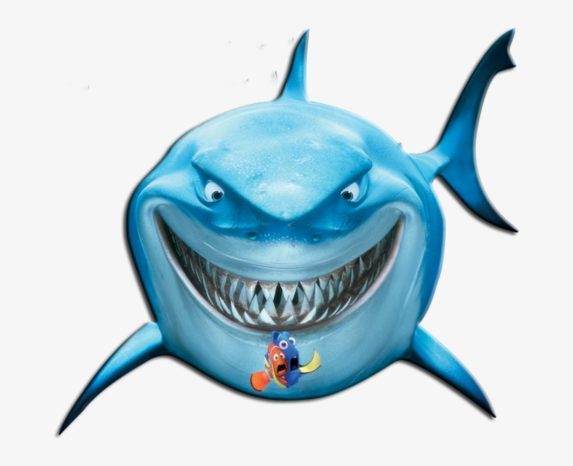 Shark Clipart Finding Dory - Bruce Finding Nemo Png, transparent png #1312778