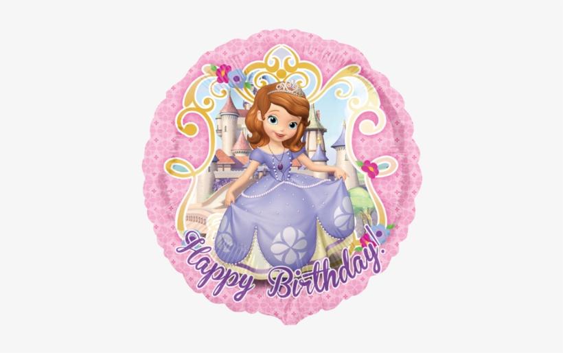 "18"" Disney Sofia The First Happy Birthday Foil Balloon - Princess Sofia Round, transparent png #1313662"