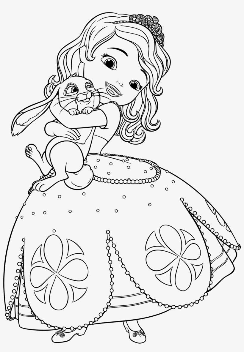 Proven Princess Sophia Coloring Pages Sofia Printable - Princess Sophia Coloring Sheet, transparent png #1313788