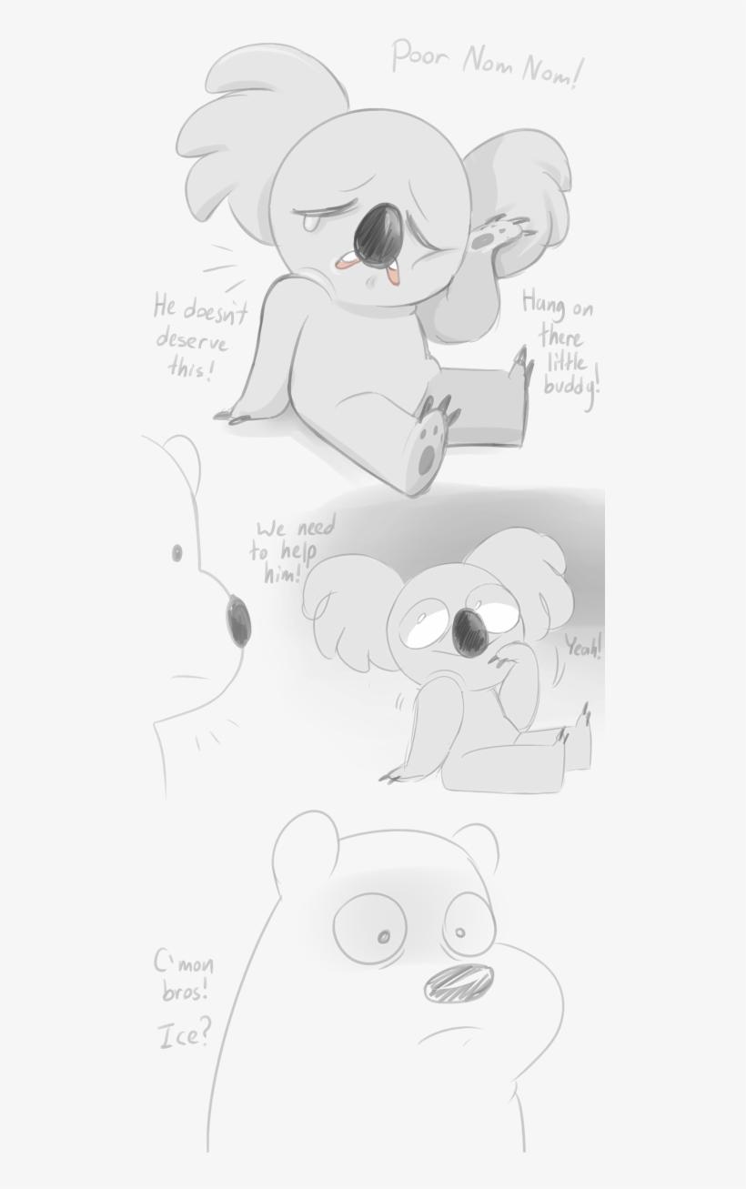 Homer Simpson Bear White Black Black And White Mammal - Nom Nom We Bare Bears Pokémon, transparent png #1313907
