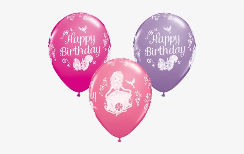 Princess Pink 11 Inch Latex Balloons x 6