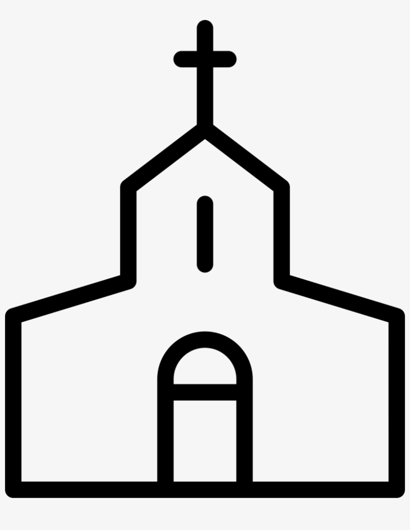 Christian Church Comments Church Clipart Black And White Png