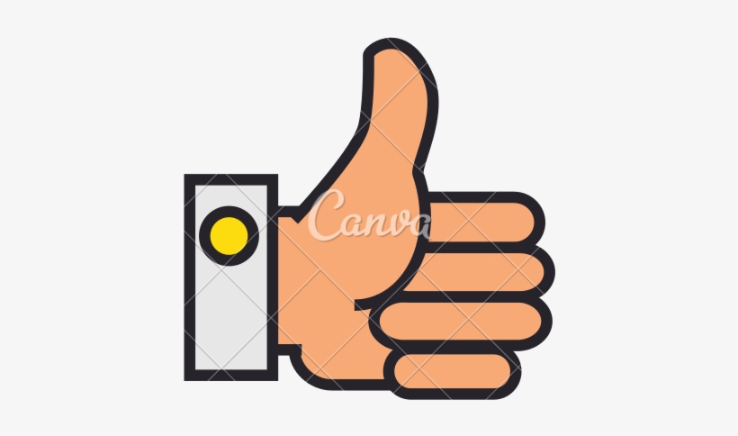 Thumbs Up Hand Vector Icon - Hand, transparent png #1316318