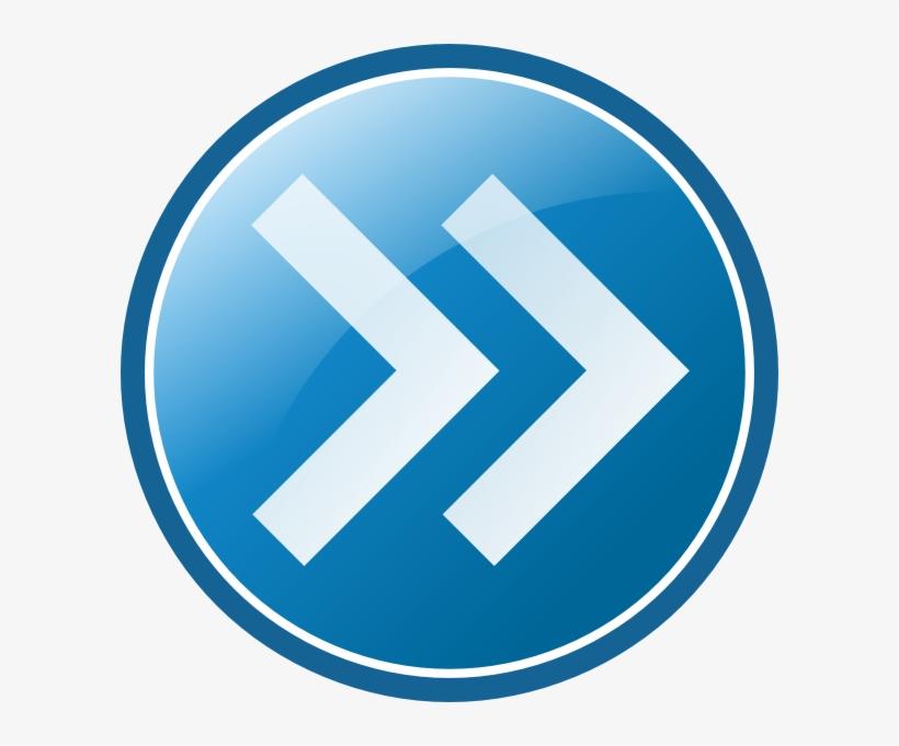 Arrow Right Clip Art At Clker Com - Forward Arrow Blue Png, transparent png #1317823