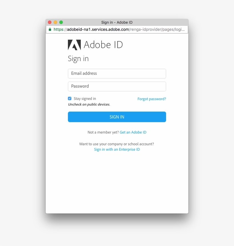Your User Can Enter Their Adobe Id Username And Password, - User Interface Design, transparent png #1317917