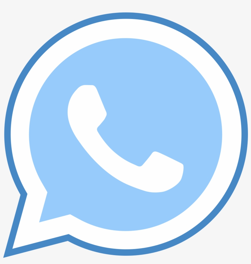 Whatsapp Icon - Whatsapp Logo Png Blue, transparent png #1319223
