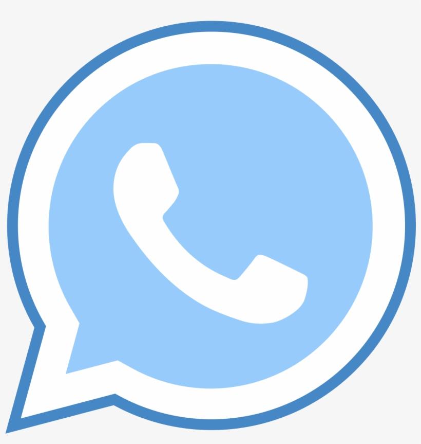 Whatsapp Icon - Whatsapp Logo Png Blue - Free Transparent
