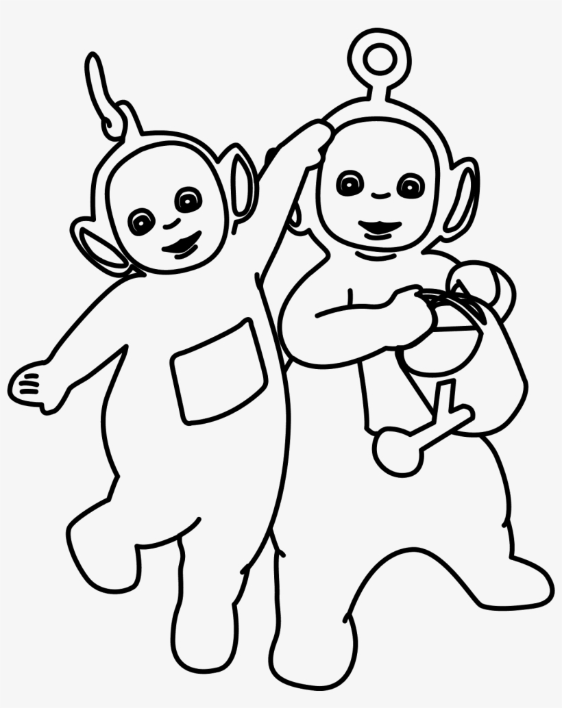 - Drawing Teletubbies 128 - Coloring Book - Free Transparent PNG