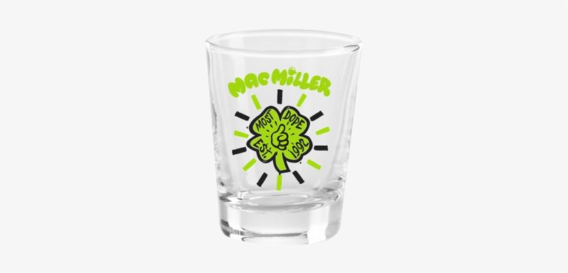 Mac Miller Shamrock Shot Glass - Mac Miller, transparent png #1321141