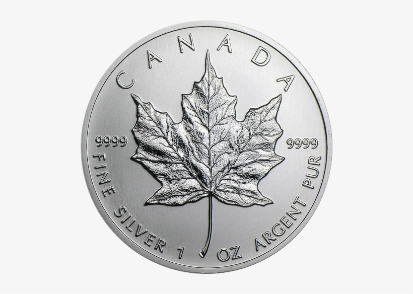 Monster Box Silver Maple Leaf Coin - Canada 1 Oz Silver Maple Leaf, transparent png #1322268