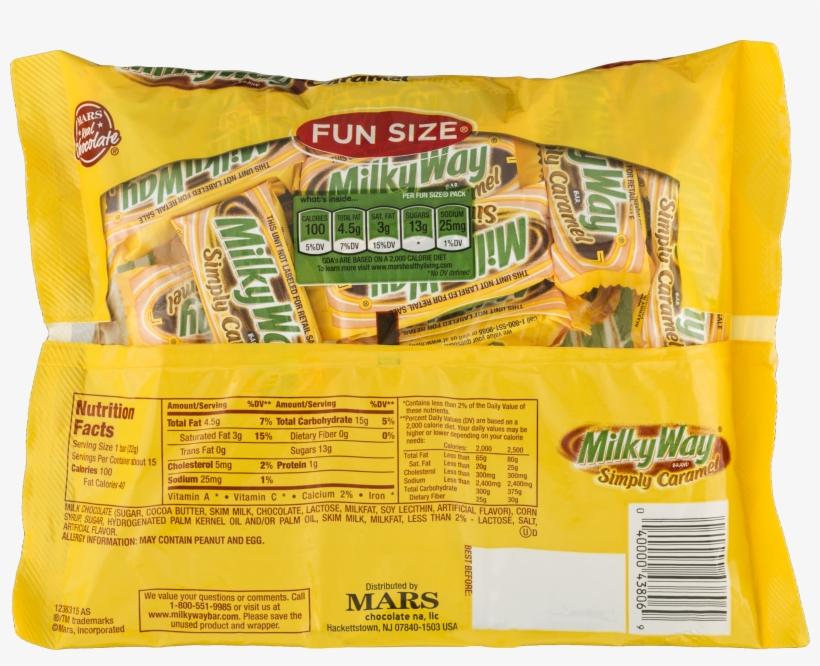 Milky Way Simply Caramel Milk Chocolate Fun Size Bars - M & M's Mandm's Peanut Chocolate Candy, 42 Ounce, transparent png #1325621