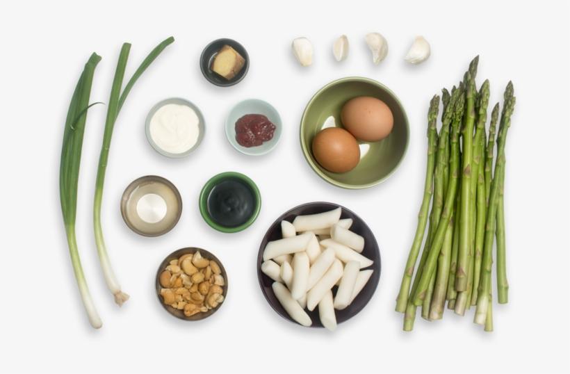 Spicy Vegetable Tteokbokki With Asparagus, Soft-boiled - Egg, transparent png #1326343