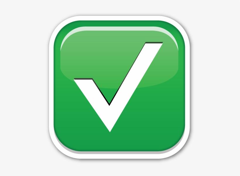 Check Mark Emoji Png - Check Emoji Whatsapp Png, transparent png #1328880