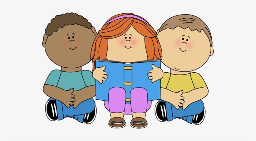 Free Clip Art Children Reading Books - Clipart Kids, transparent png #1329716