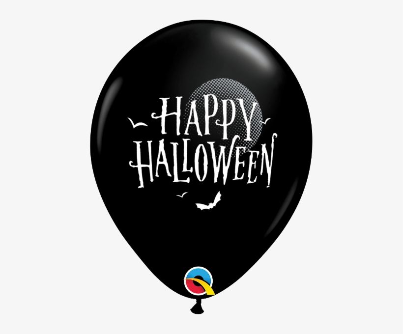 "Halloween Moon & Bats Balloons - 11"" Halloween Moon & Bats Latex Balloons, transparent png #1330277"