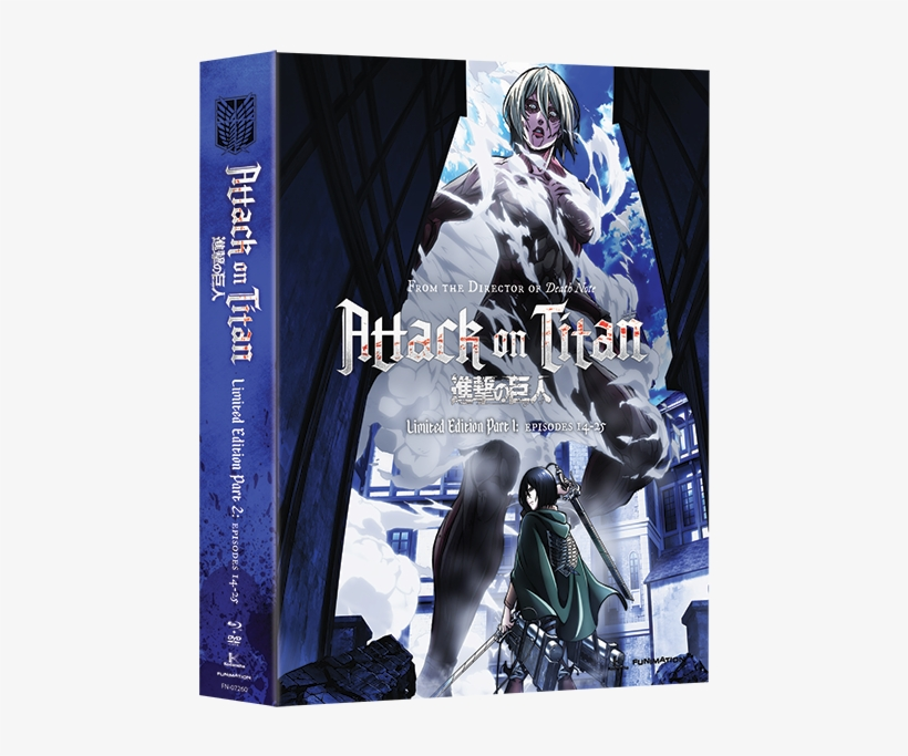 Attack On Titan Part - Attack On Titan Season 2 Blu Ray Release Date, transparent png #1330741