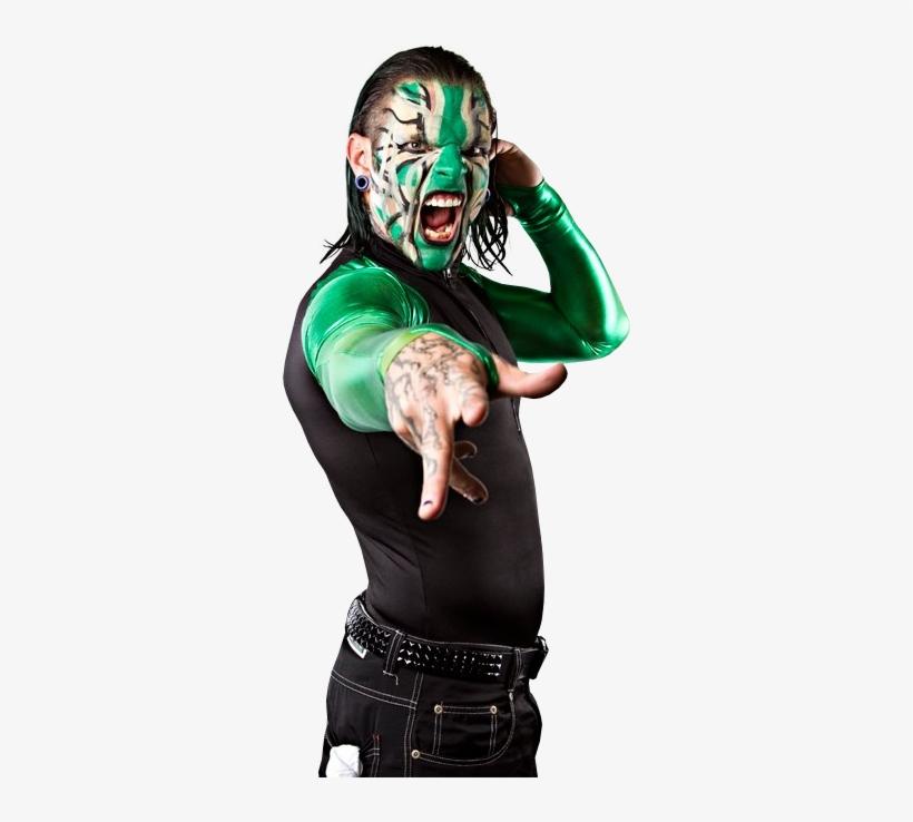Jeffrey Nero Hardy Returnee Jeff Hardy Green Face Paint - Jeff Hardy Face Paint Png, transparent png #1332281