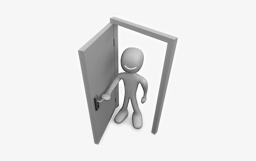 And Also At Door Solutions Twitter - Person Opening A Door, transparent png #1332376