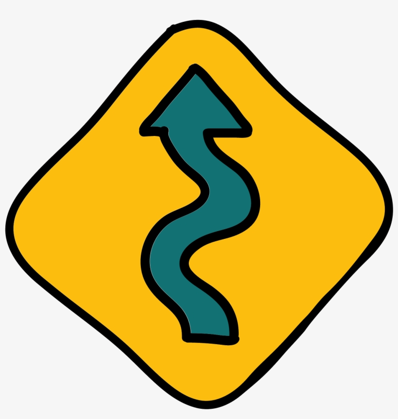 Svg Royalty Free Download Wavy Free Download Png And - Winding Road Sign Png, transparent png #1332589