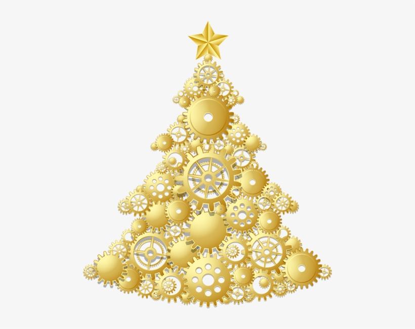 Christmas Tree Png Inside Gold Transparent Background Gold