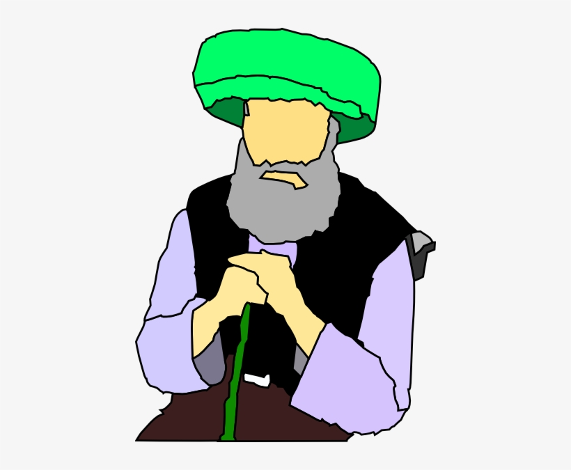 Small - Muslim Old Man Clipart, transparent png #1333376