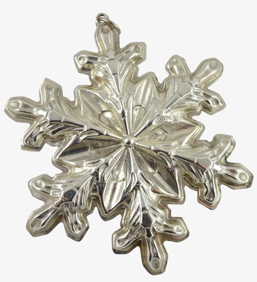 Gorham Sterling Silver Snowflake Christmas Ornament - Christmas Day, transparent png #1334988