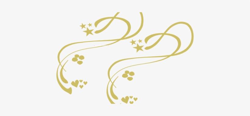 Golden Vector Line Png - Decorative Vines Clip Art, transparent png #1336608