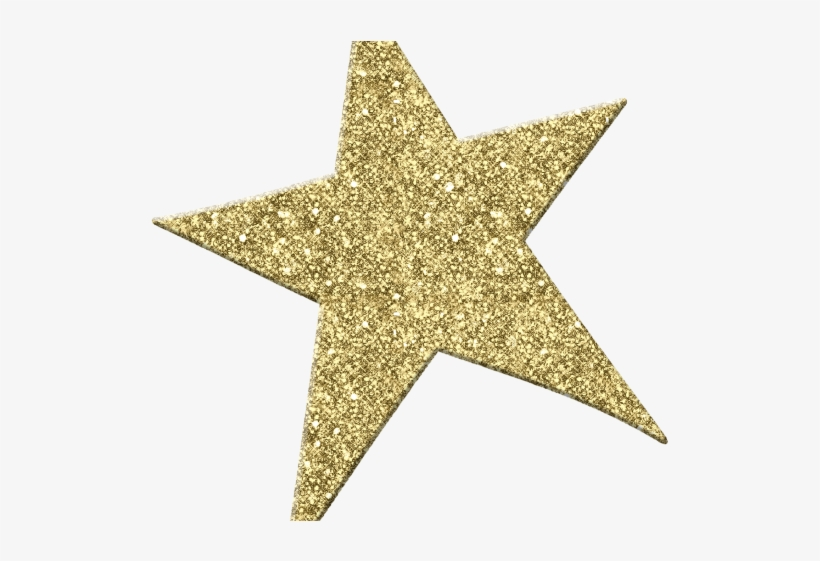 Sparkle Clipart North Star - Gold Glitter Star Png, transparent png #1337291
