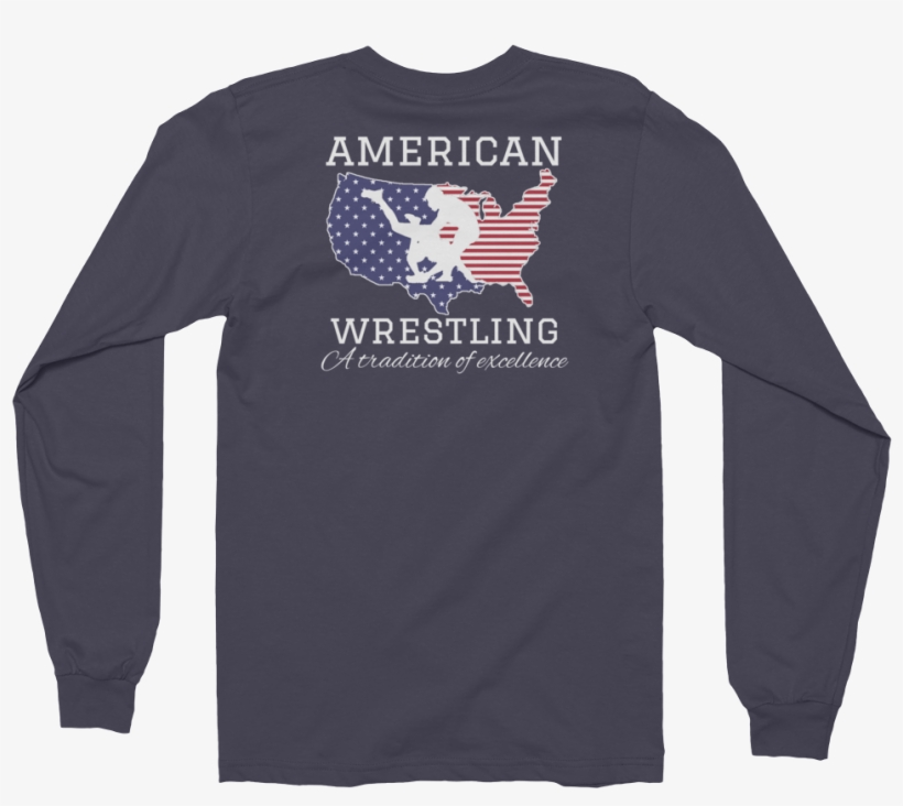 American Wrestling Long Sleeve T-shirt - Long-sleeved T-shirt, transparent png #1338571