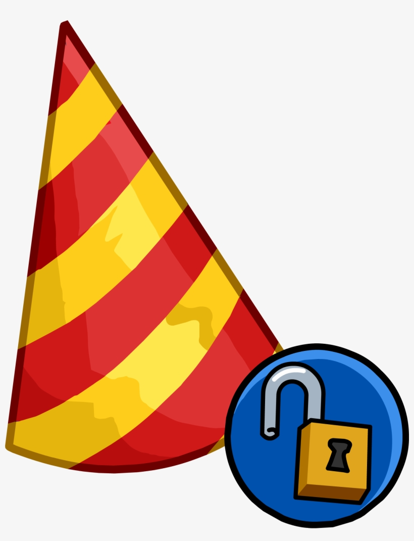 Party Hats - Club Penguin 11th Anniversary Hat, transparent png #1340809