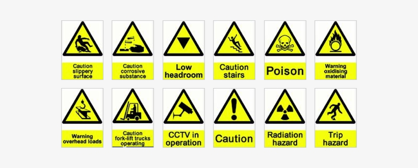 Hazard And Safety Signs - Safety Signs And Hazard Symbols, transparent png #1340950