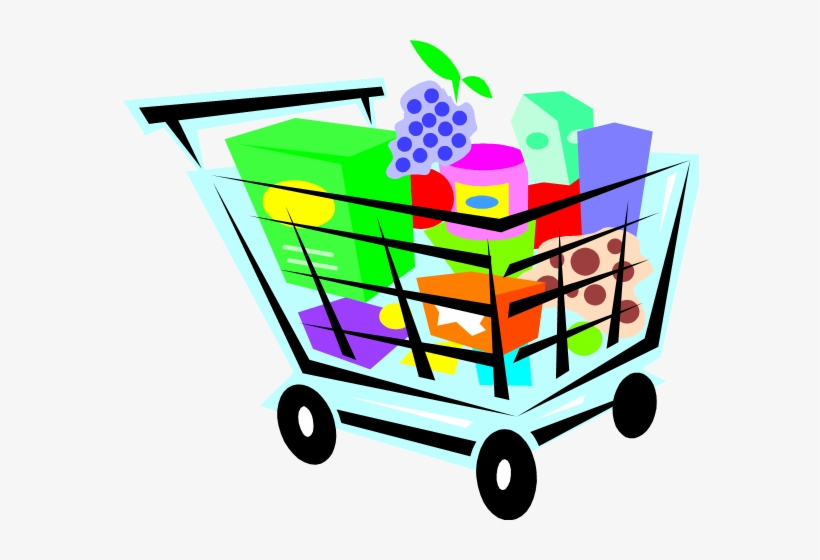 Grocery Cart - Logo Of Online Grocery Store, transparent png #1343929