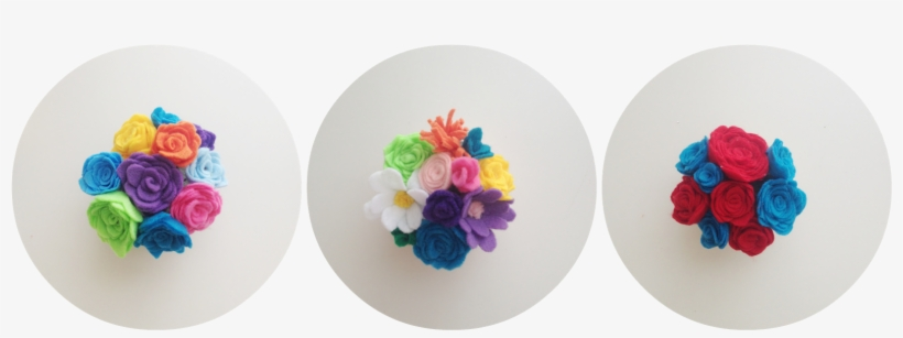Felt Flowers In A Tiny Mason Jar That You Can Send - Artificial Flower, transparent png #1344632