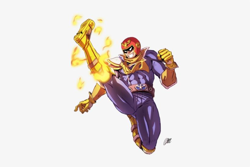 Captain Falcon Kick - Captain Falcon Png, transparent png #1344735
