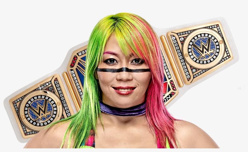 Asuka - Wwe Smackdown Women's Championship Belt Photo Print, transparent png #1346072