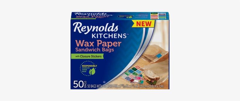 Wax Paper Sandwich Bags - Reynolds Wax Sandwich Bags, transparent png #1347177